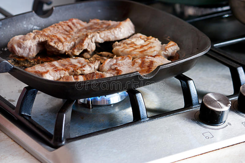 Download Homemade grill steak stock image. Image of food, oven - 26049757