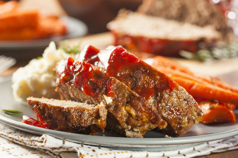 Homemade Ground Beef Meatloaf stock photography