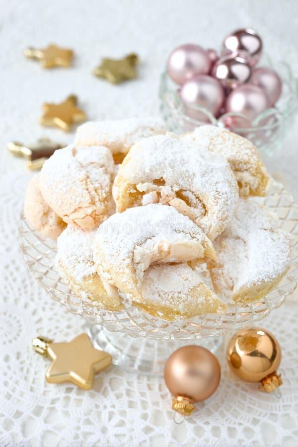 Meringue cookies. Homemade hungarian meringue wedding cookies royalty free stock photo