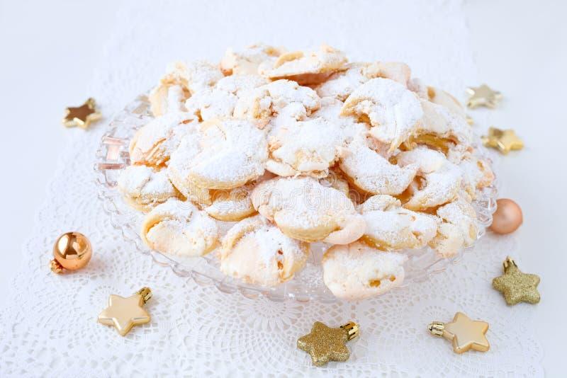Meringue cookies. Homemade hungarian meringue wedding cookies stock photos