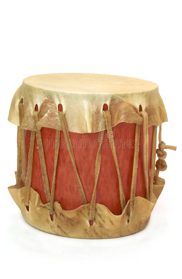 Homemade indian drum stock image