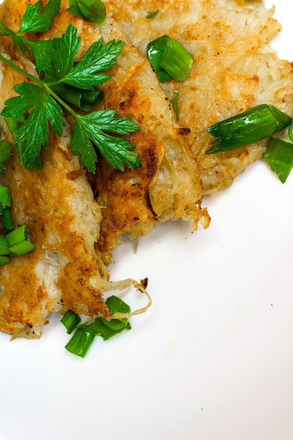 Homemade Irish Potato Pancakes (Boxty) / St.Patrick day food stock photos