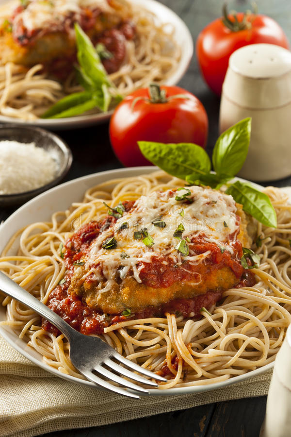 Free Homemade Italian Chicken Parmesan Royalty Free Stock Images - 42593629