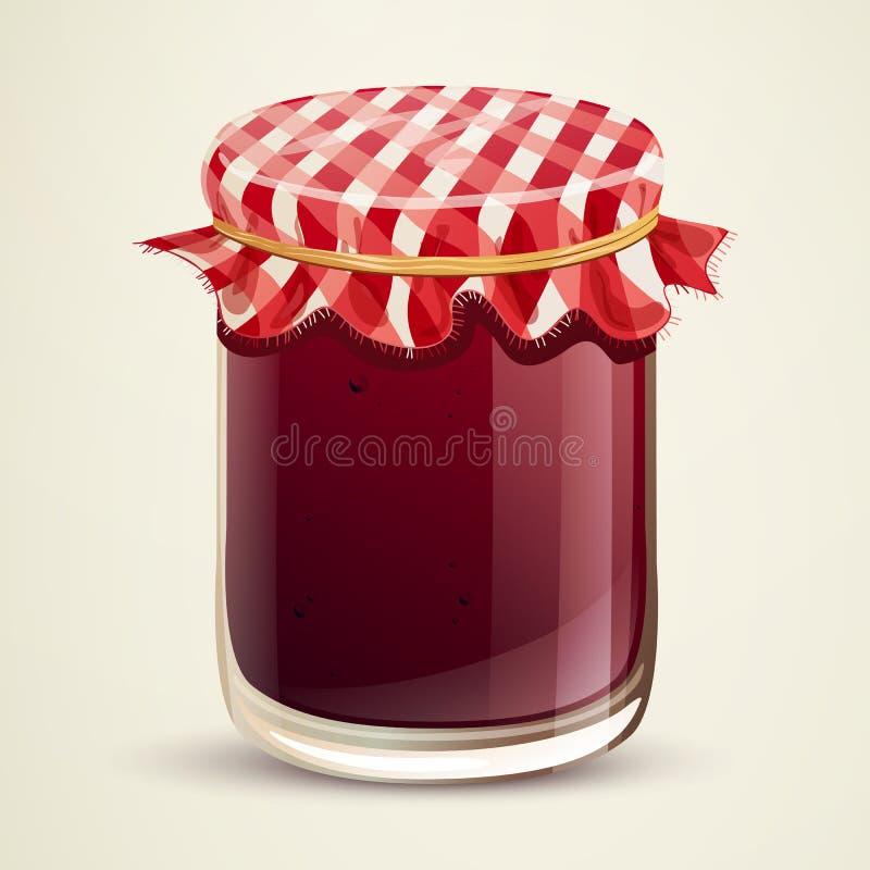 Homemade Jam. Illustration of a glass of Homemade Jam stock illustration