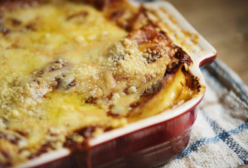 Homemade lasagna food photography recipe idea royalty free stock photo
