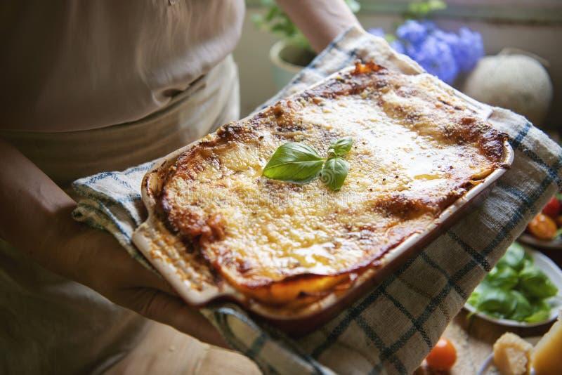 Homemade lasagna food photography recipe idea royalty free stock photos
