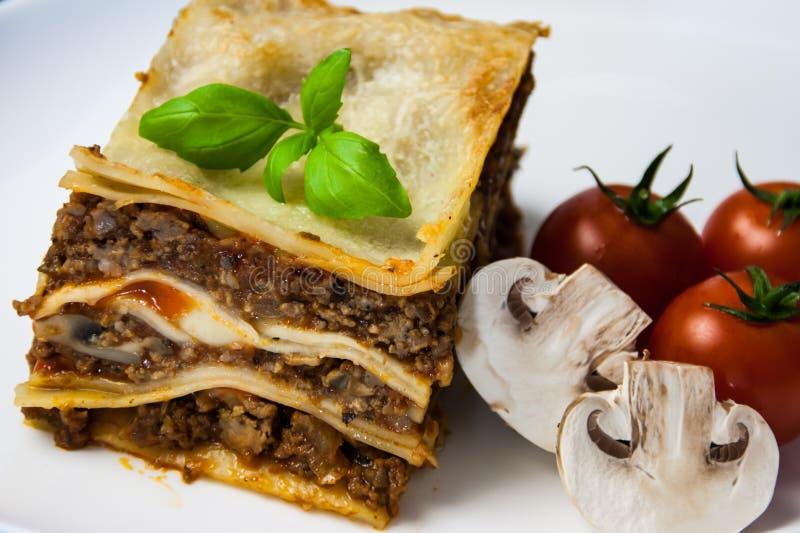 Homemade Lasagne With Champignons Stock Photo - Image of champignons, dinner: 110741168