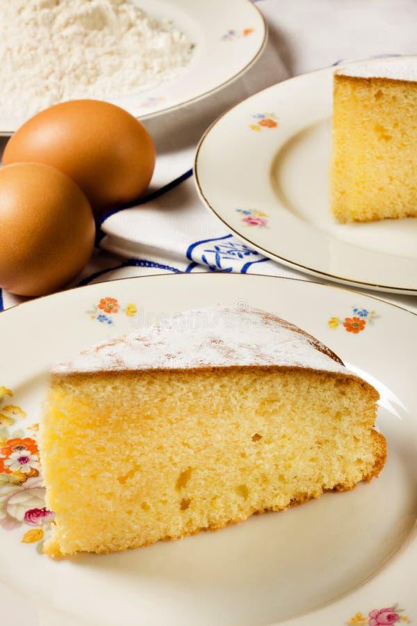 Homemade Lemon Cake Royalty Free Stock Photos