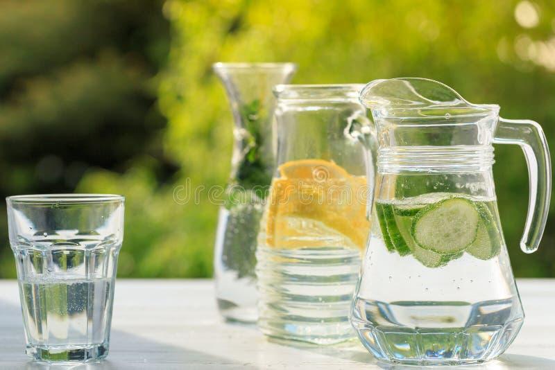 Homemade lemonade stock images