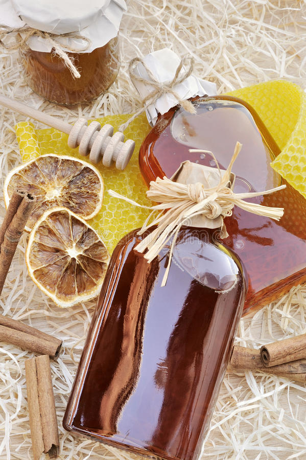 Homemade liqueur with spices. Still life royalty free stock photography