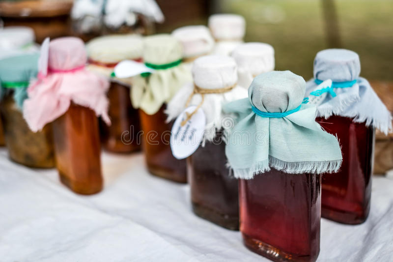 Homemade liquor stock photography