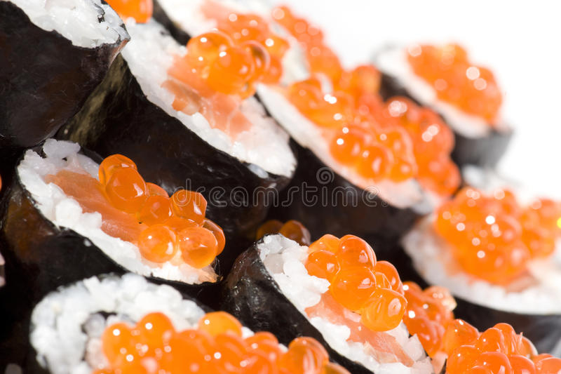 Homemade maki sushi stock image