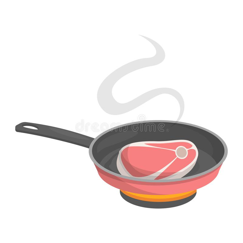 Homemade meat food for lunch or dinner. Tasty delicious royalty free illustration