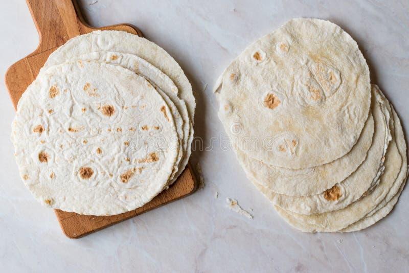 Homemade Mexican Tortillas for Tostada stock photos