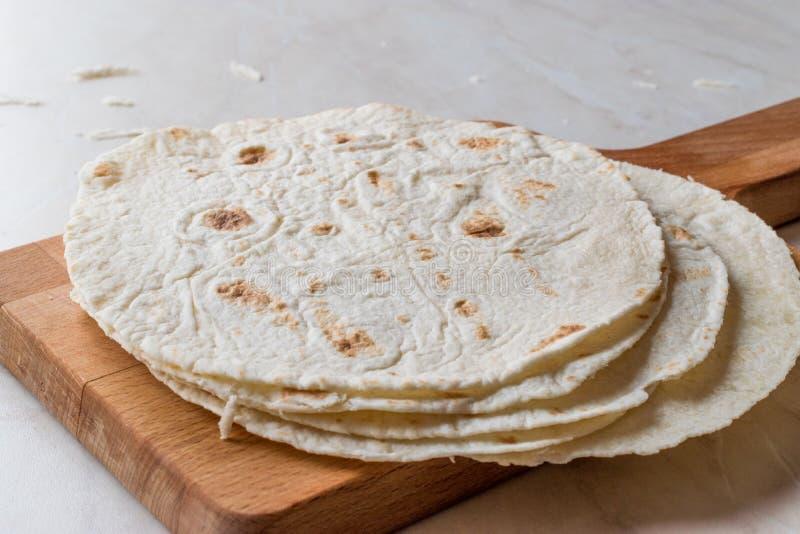 Homemade Mexican Tortillas for Tostada stock photo