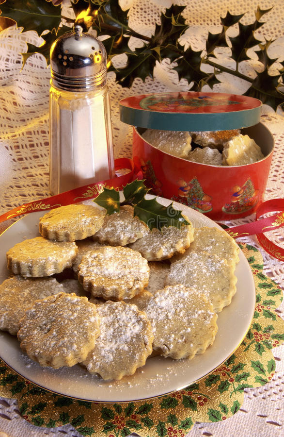Homemade Mince Pies. Traditional Homemade Mince Pies at Christmas (British tradition royalty free stock photo