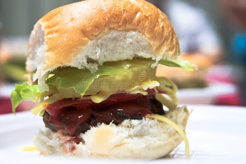 Homemade Mini Beef Burger Royalty Free Stock Photos