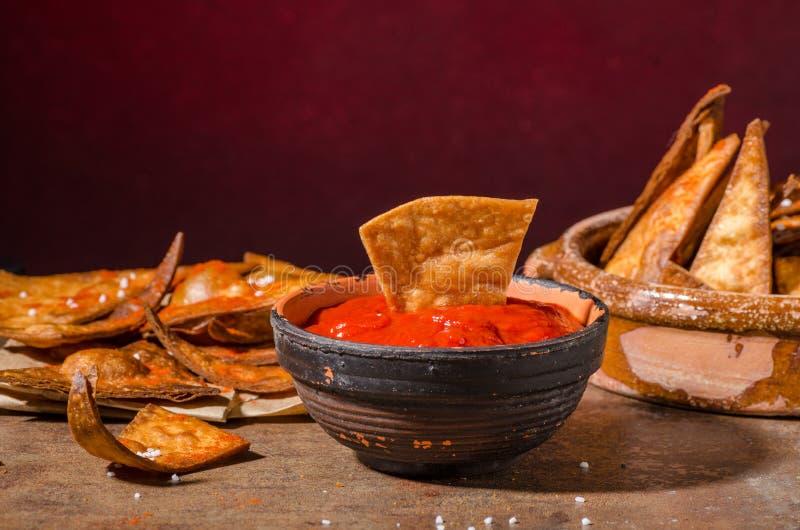 Homemade nachos tortilla stock image