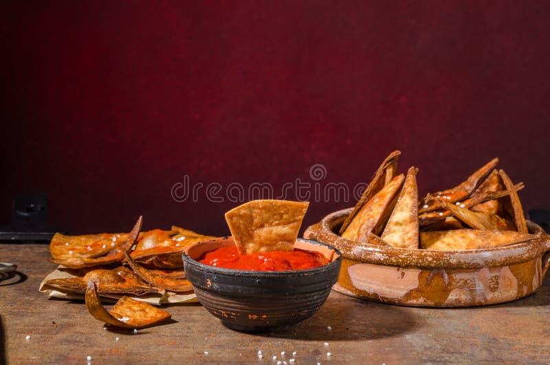 Homemade nachos tortilla royalty free stock photography