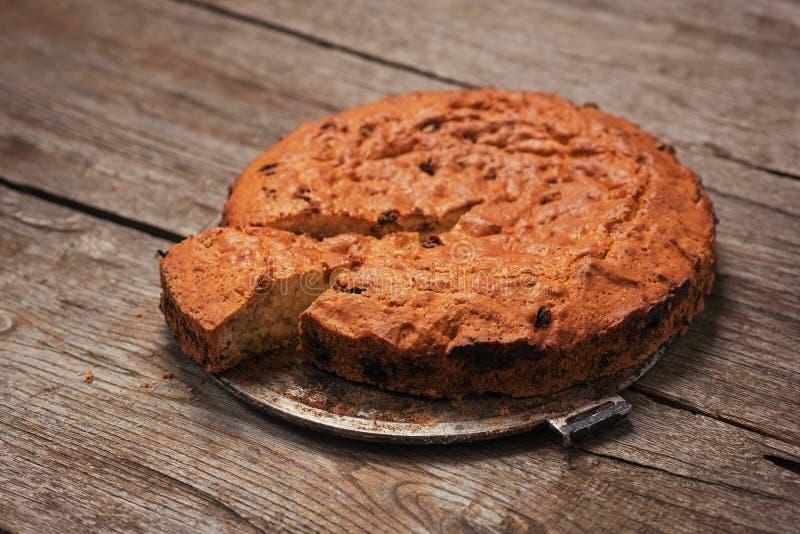 Homemade nut cake stock image