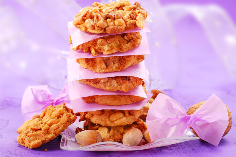 Homemade Nuts Cookies Royalty Free Stock Image