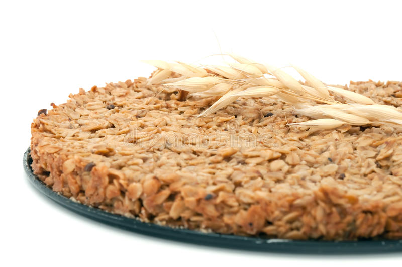 Homemade Oatmeal Cake stock photos