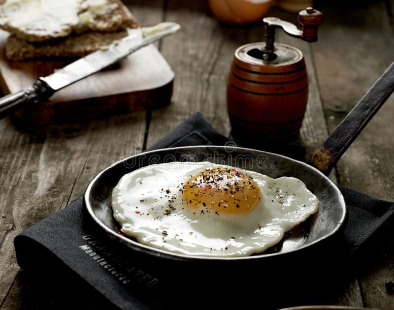 Rustic omelette from above stock photography