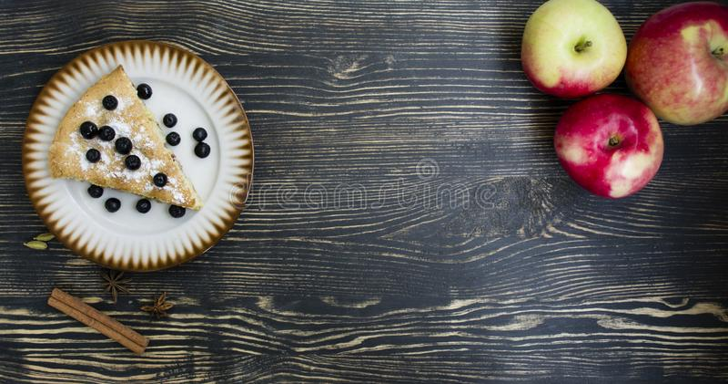 Homemade Organic Apple Pie Dessert Ready to Eat stock photo