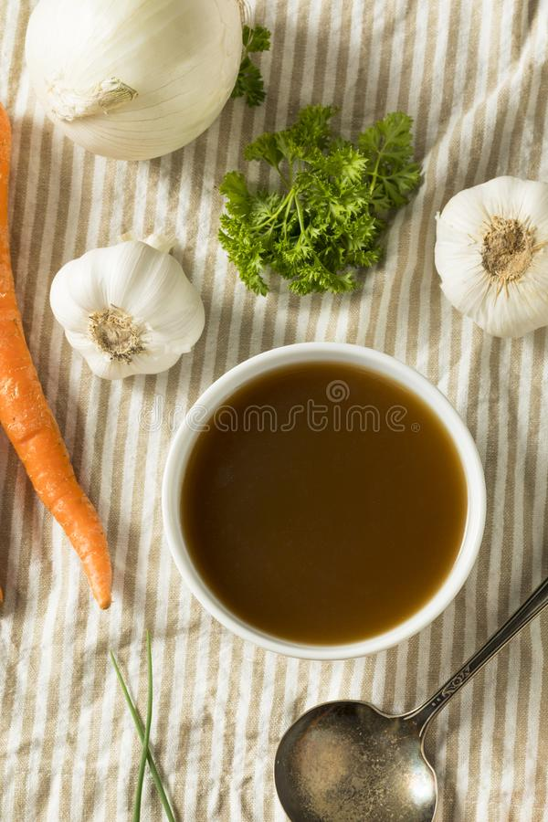Homemade Organic Beef Bone Broth stock image