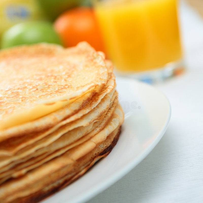 Download Homemade Pancakes stock photo. Image of appetizing, pile - 9292010