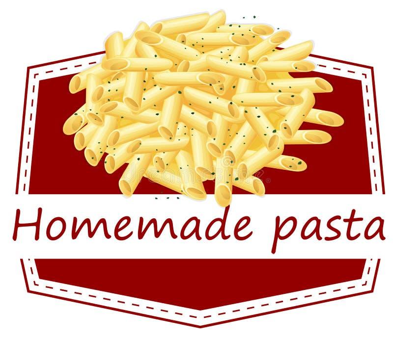 Homemade pasta. Illustration of homemade pasta on a white background royalty free illustration