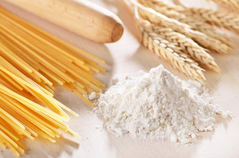 Homemade pasta scene stock photography