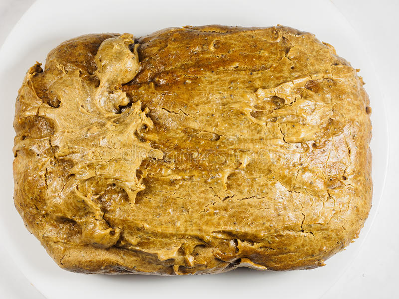 Homemade peanut butter bread. Homemade peanut butter low-carb bread for ketogenic diet stock image