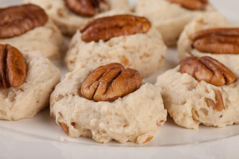 Homemade Pecan Cookies stock images