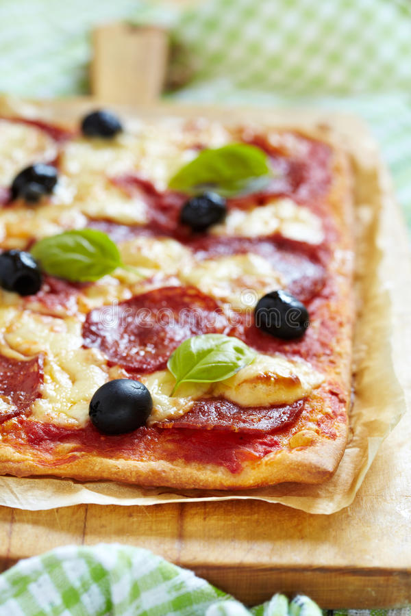 Download Homemade Pepperoni Pizza Royalty Free Stock Photos - Image: 25082268