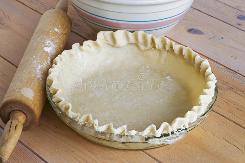 Homemade Pie Shell royalty free stock images