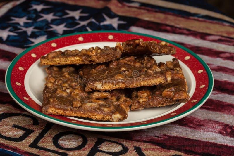 Homemade Praline Strips bars van de keuken van mama royalty-vrije stock foto's