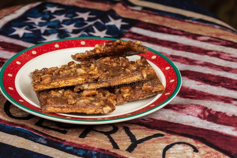 Homemade Praline Strips bars van de keuken van mama royalty-vrije stock foto