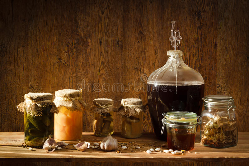 Download Homemade Products In Basement Stock Photo - Image of honey, textile: 20874248