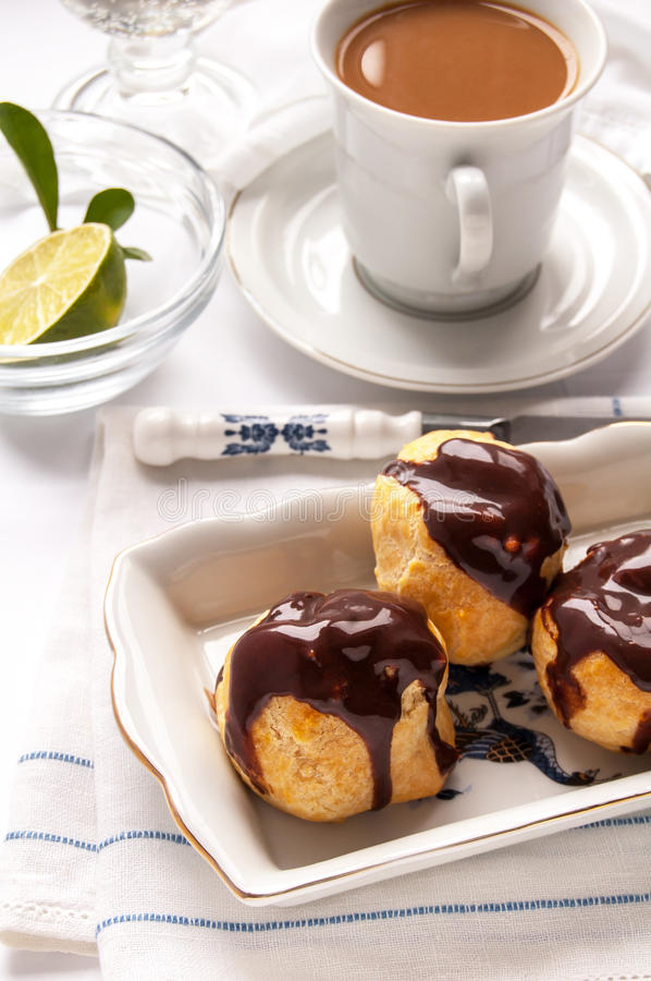Download Homemade Profiteroles With Chocolate Cream Stock Image - Image: 37010719