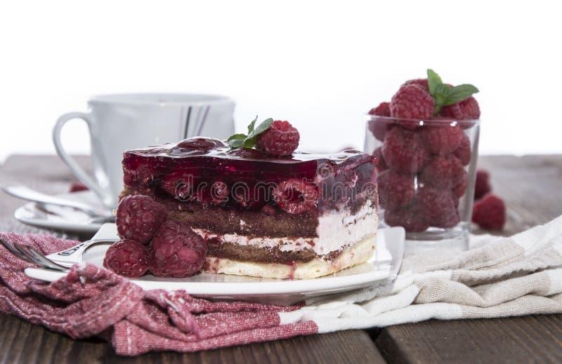 Homemade Raspberry Tart on white stock image