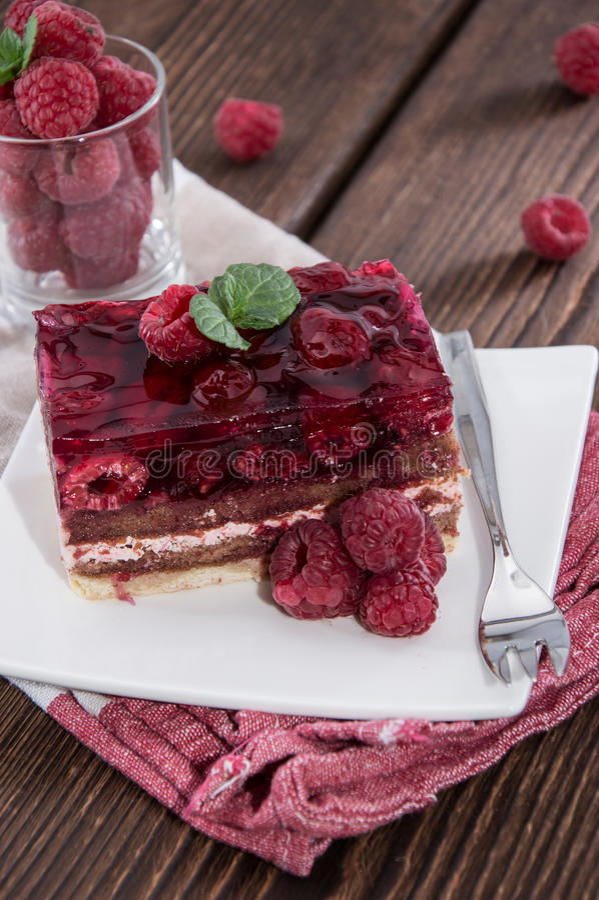 Homemade Raspberry Tart royalty free stock photo