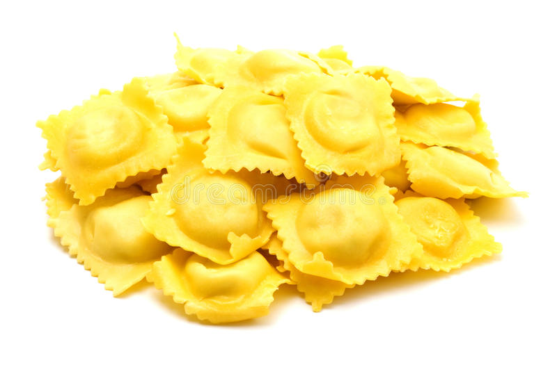 Homemade ravioli royalty free stock photo