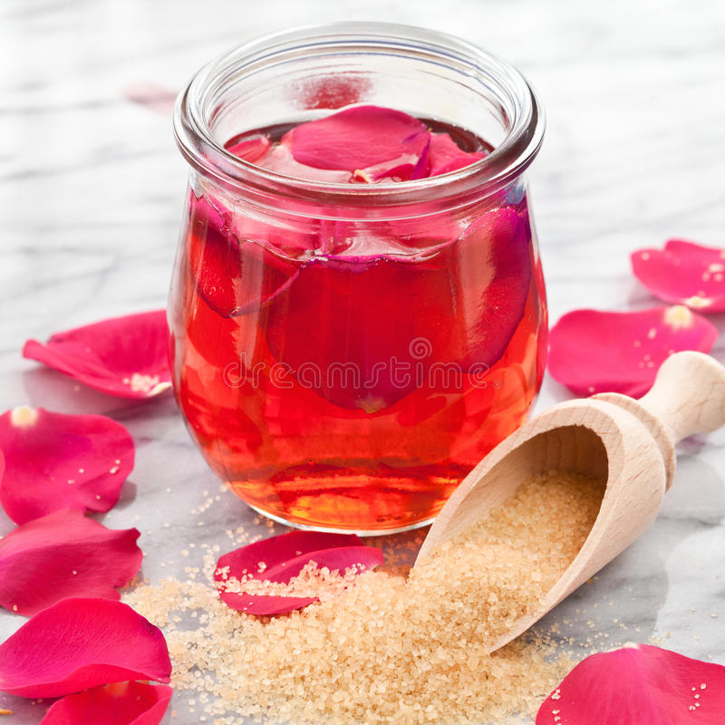 Homemade rose jelly stock image