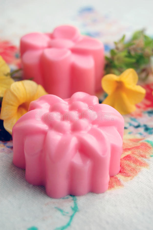 Homemade Rose Soap royalty free stock images