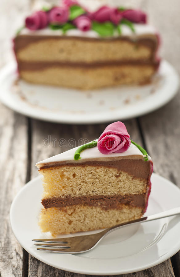 Download Homemade roses cake stock photo. Image of fork, chocolate - 22033194