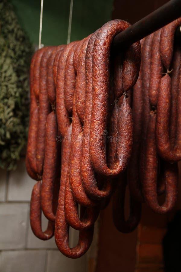 Homemade, rustic sausage