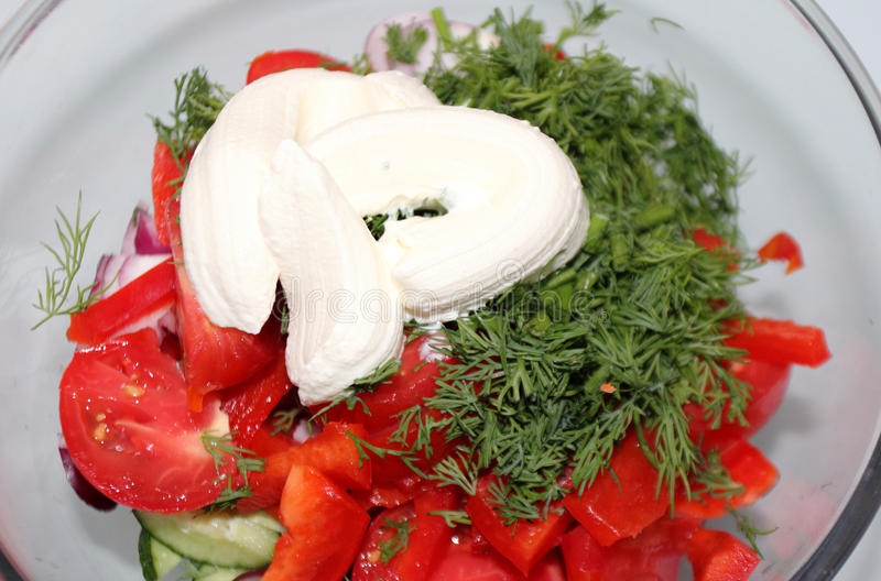 Homemade Salad Royalty Free Stock Photography
