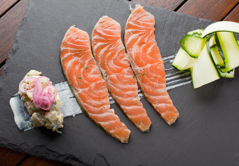 Download Homemade Salmon Gravadlax, Shallow DOF Royalty Free Stock Photography - Image: 24518847