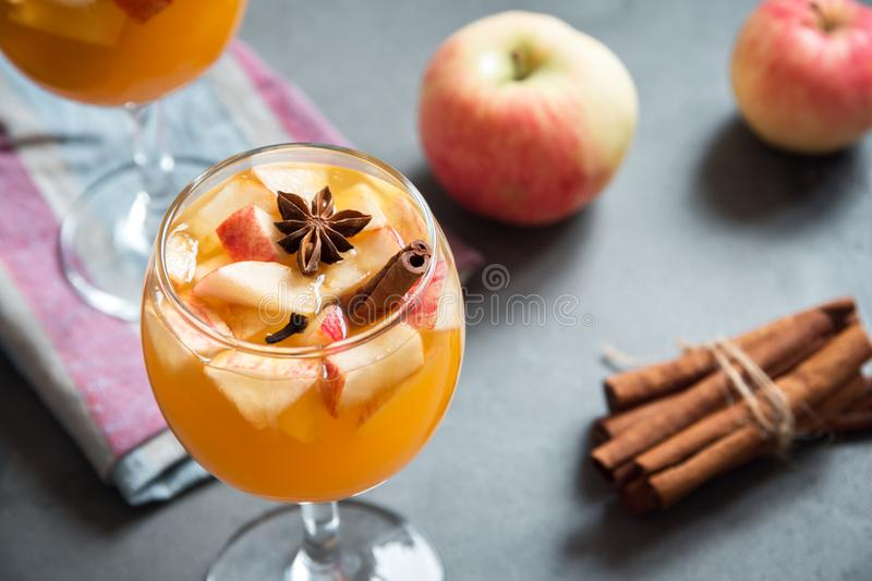 Sangria, apple cider, punch royalty free stock photography